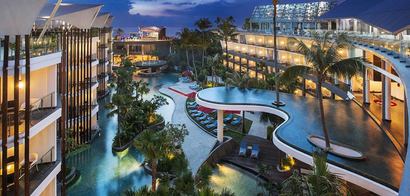 Le Meridien Bali Jimbaran pool  The Best Hotel Pools in Bali Le Meridien Bali Jimbaran pool
