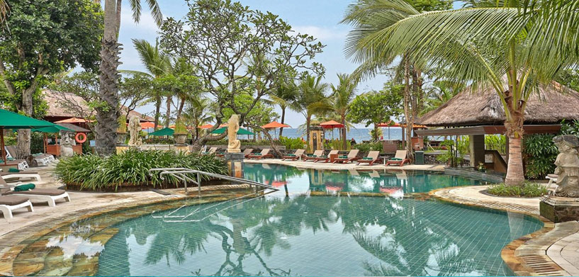Legian beach hotel Pool  The Best Hotel Pools in Bali legian beach hotel